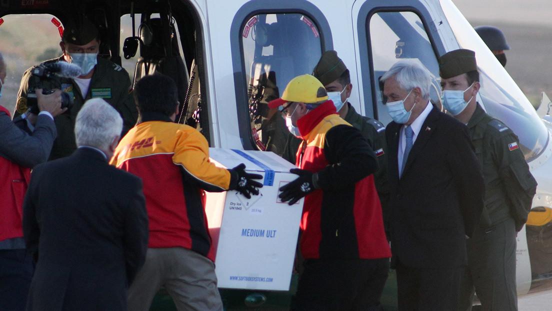 Llegan a Chile las primeras 10.000 dosis de la vacuna de Pfizer contra el covid-19