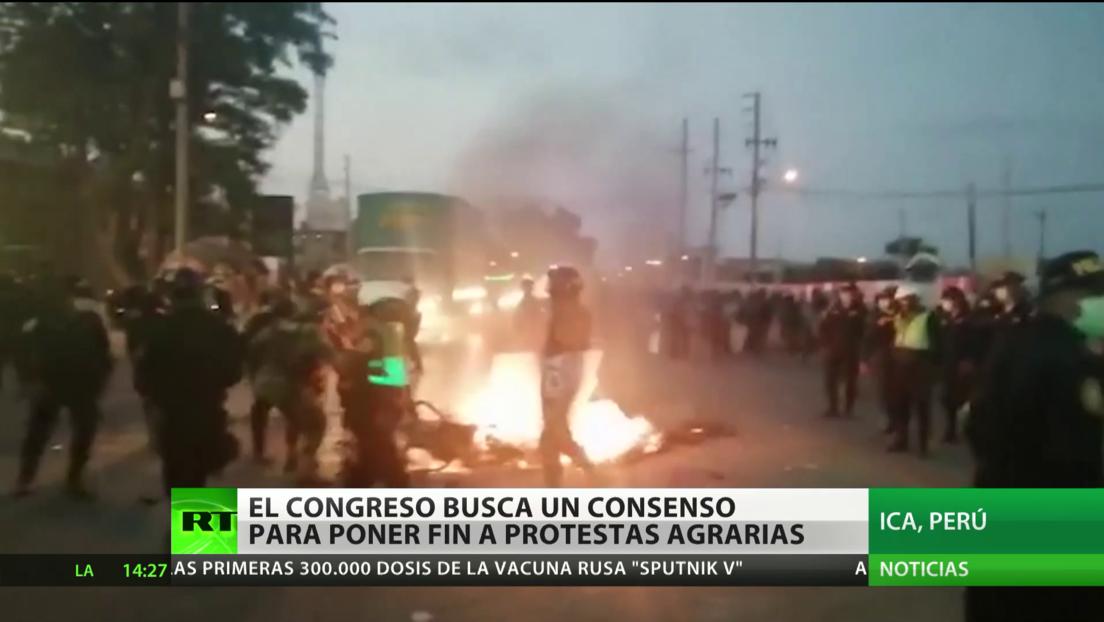 El Congreso peruano busca consenso para poner fin a las protestas agrarias