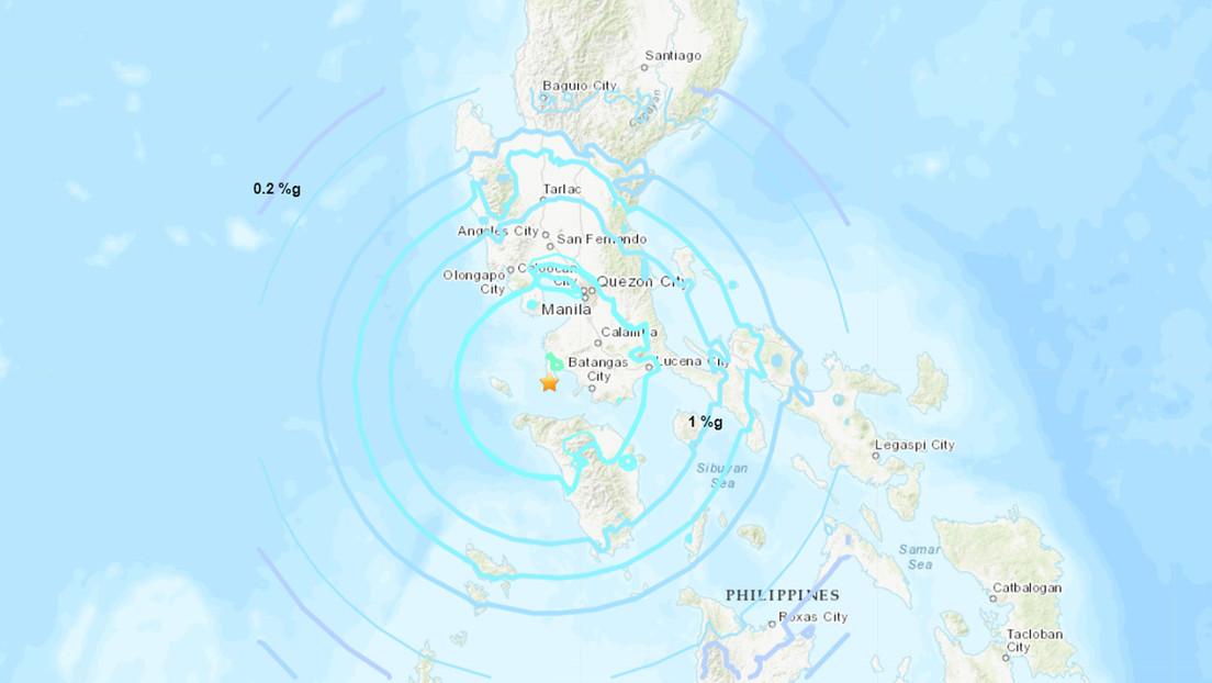 Se registra un sismo de magnitud 6,3 en Filipinas