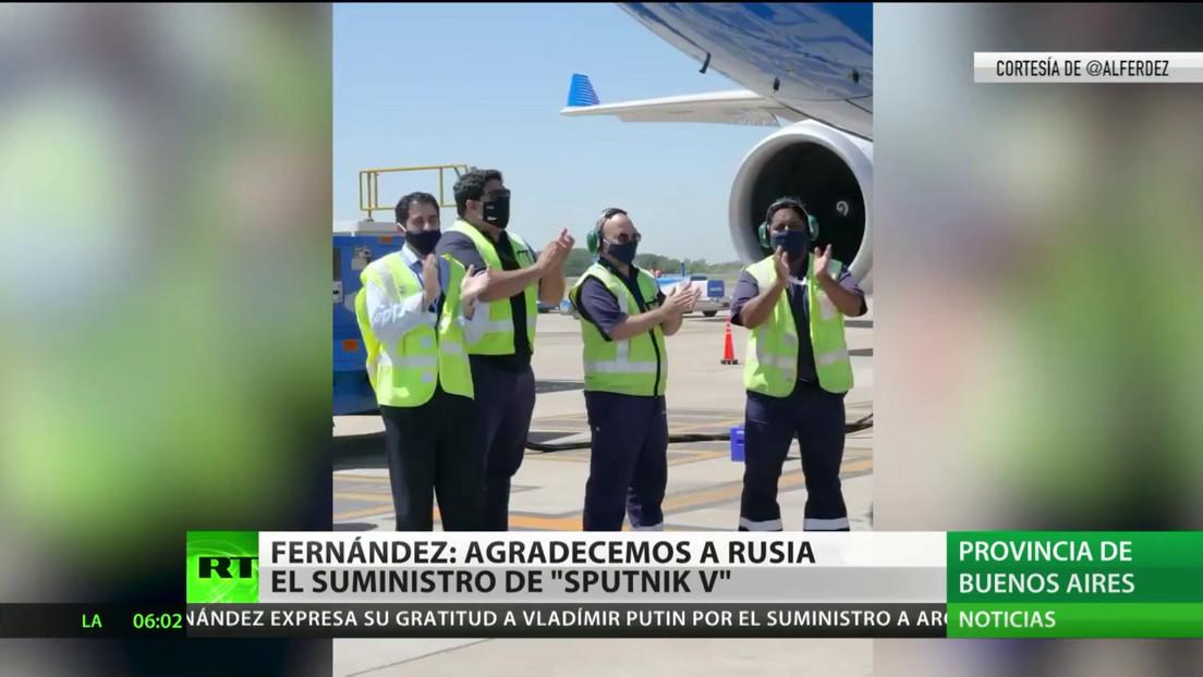 El presidente argentino agradece a Rusia por el suministro de la vacuna Sputnik V