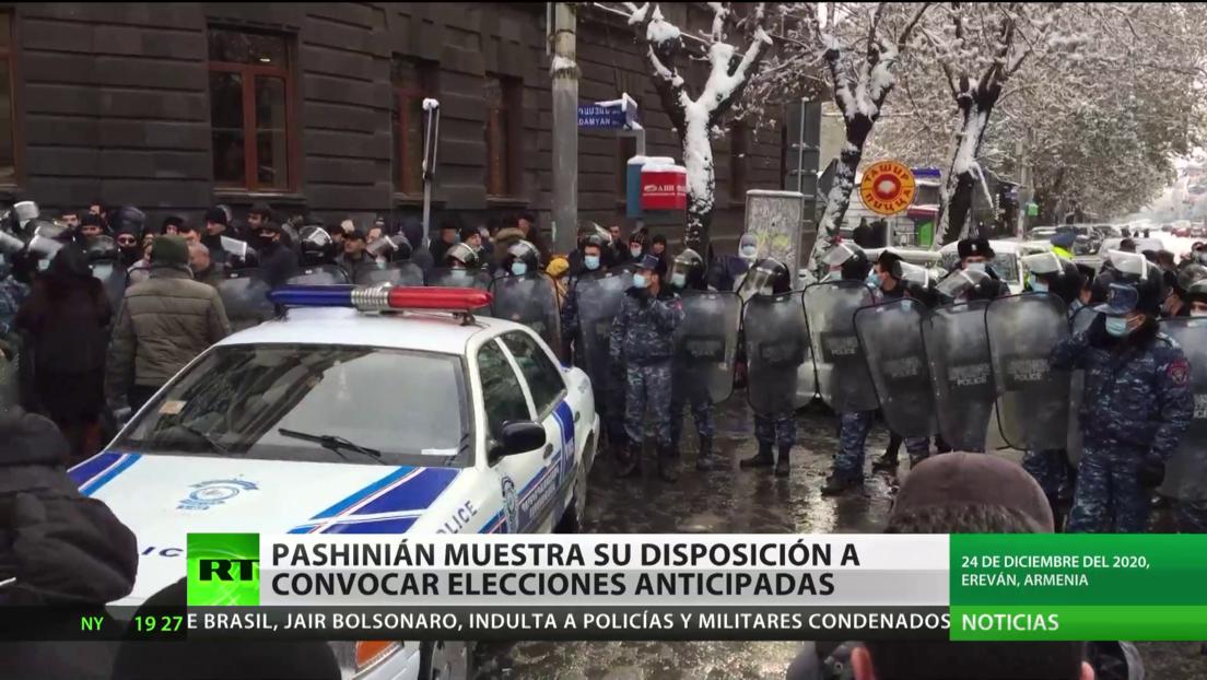 Armenia: Pashinián se muestra dispuesto a convocar elecciones anticipadas en plena crisis política