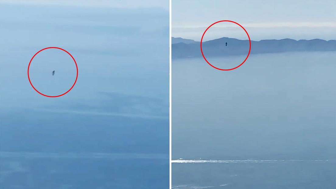 Un piloto de Los Ángeles finalmente logra filmar al misterioso hombre que vuela con una mochila propulsora
