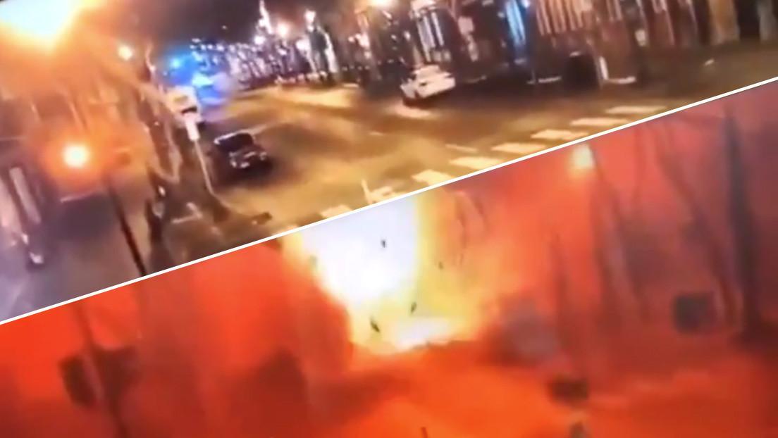 VIDEO: Captan el momento exacto de la explosión en Nashville