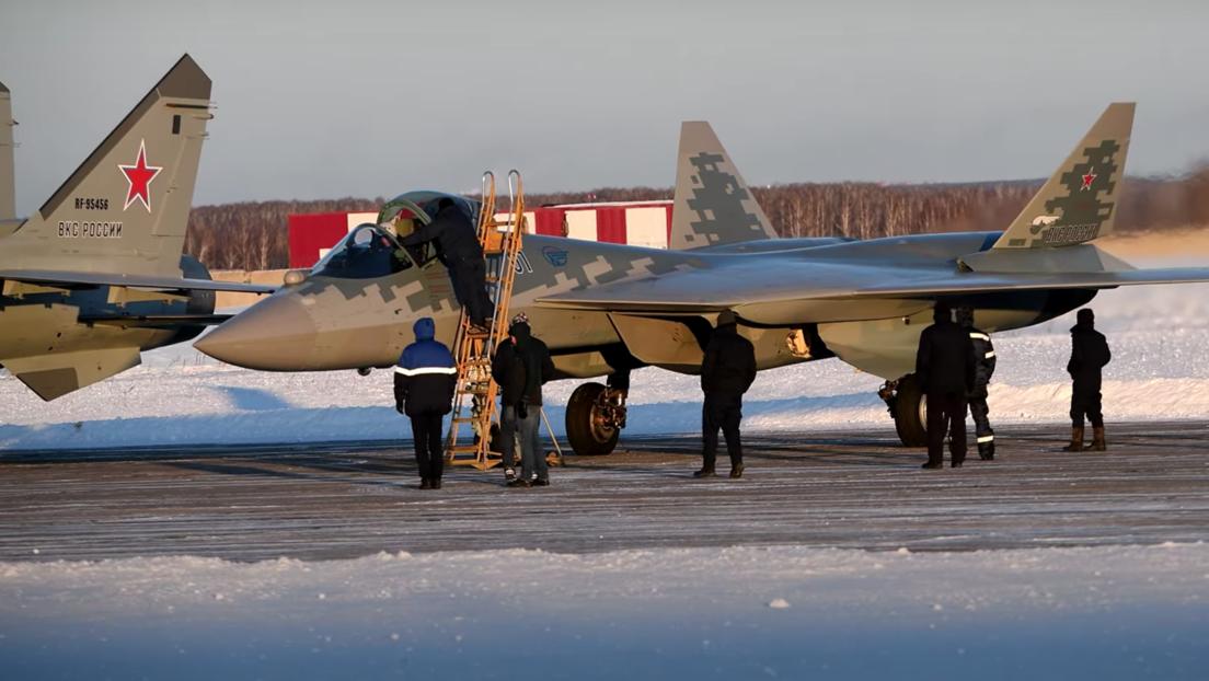 VIDEOS, FOTOS: Las Fuerzas de Defensa Aeroespacial de Rusia reciben el primer Su-57
