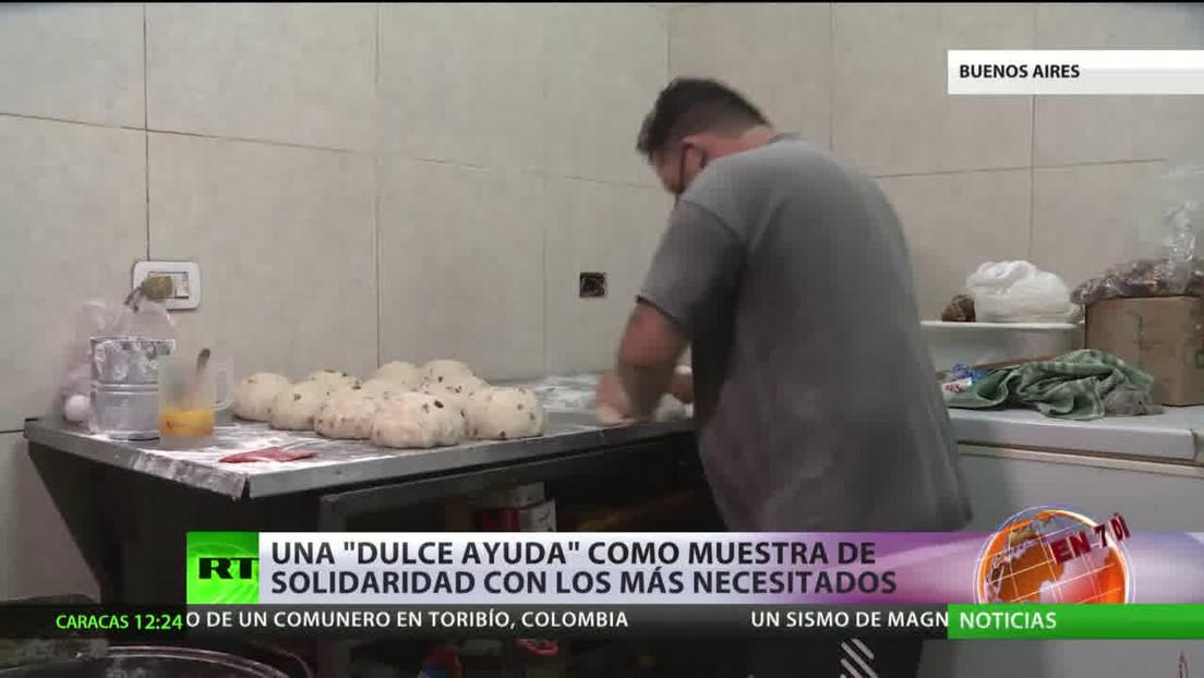 Iniciativas locales ofrecen pan dulce como muestra de solidaridad para los más necesitados en Argentina