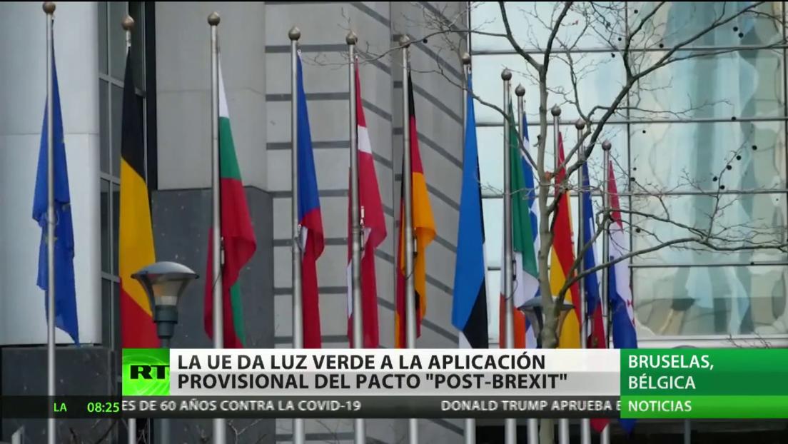 La UE da luz verde a la aplicación provisional del pacto 'post-Brexit' con el Reino Unido