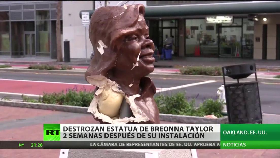 Destrozan estatua de Breonna Taylor apenas dos semanas después de su instalación