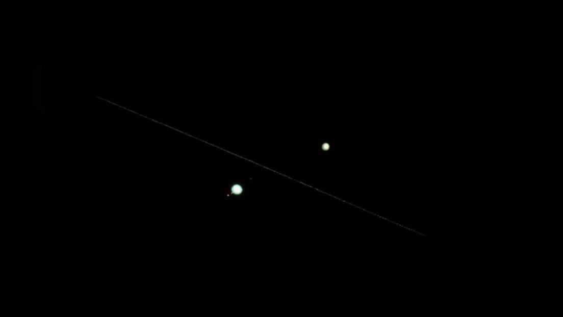 Un fotógrafo capta a la EEI pasando entre Júpiter y Saturno (VIDEO, FOTO)