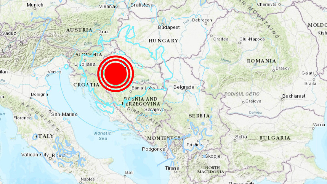 Un sismo de magnitud 6,4 se produce en Croacia, el más poderoso registrado en el país en lo que va de año