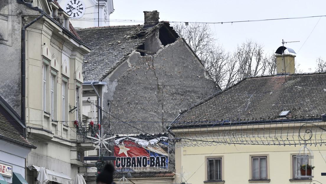 Primeras imágenes tras un sismo de magnitud 6,4 en Croacia, el más poderoso registrado en el país en lo que va de año
