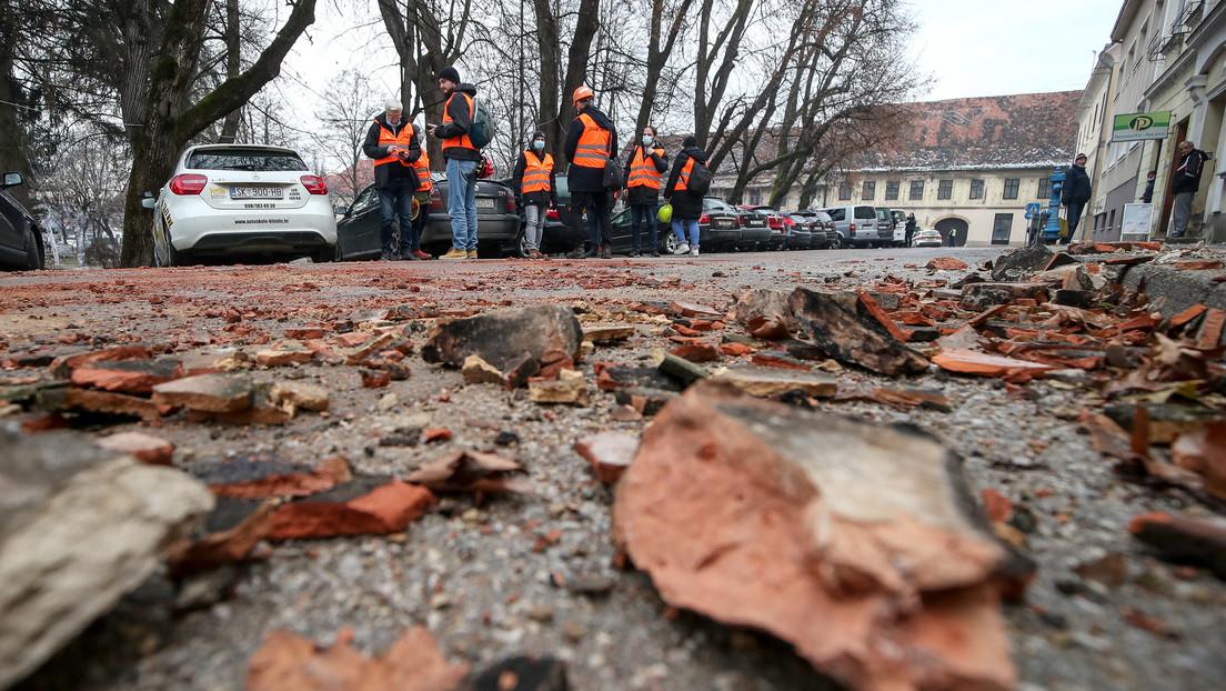 VIDEO: Captan en vivo el sismo de magnitud 6,4 en Croacia mientras realizaban un reportaje para la televisión