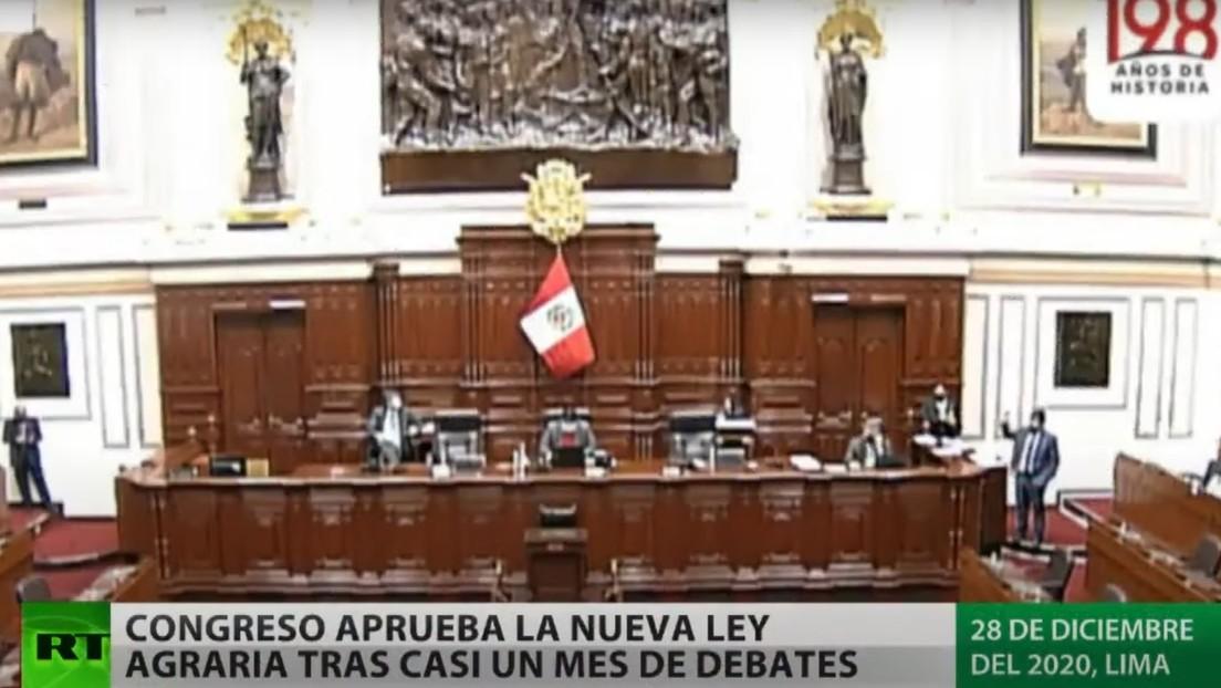Congreso de Perú aprueba la nueva ley agraria tras casi un mes de debates