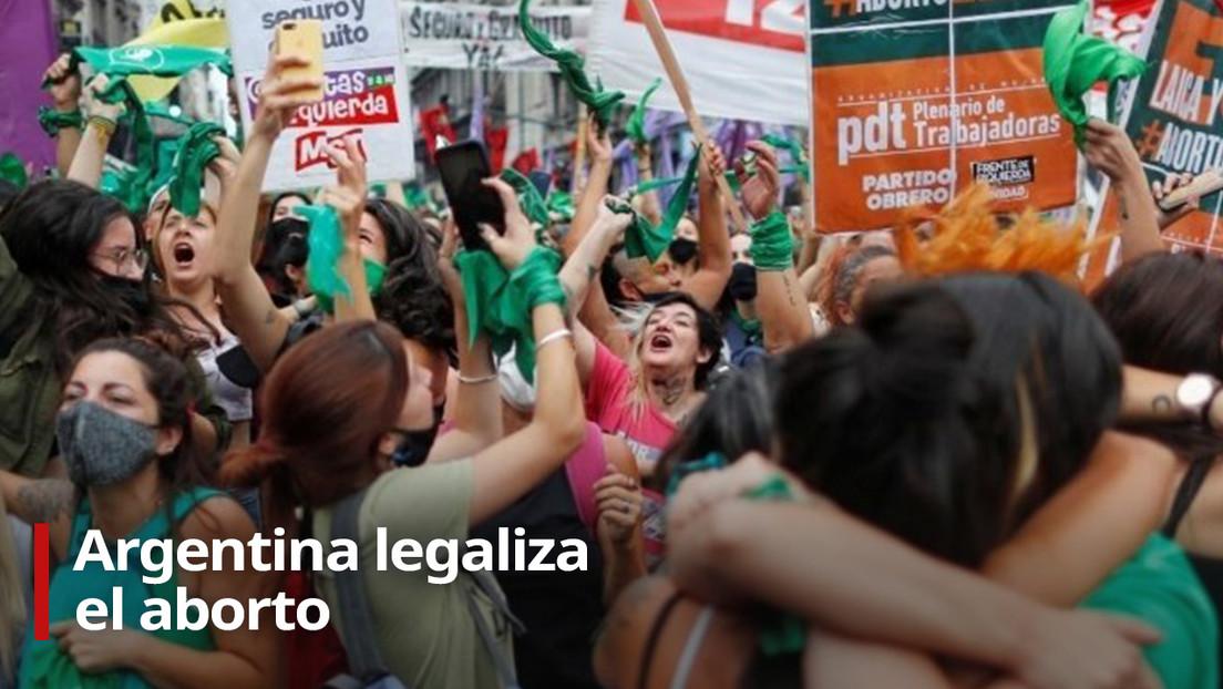 VIDEO: Argentinos celebran la histórica legalización del aborto por el Senado