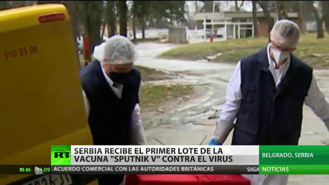 Las primeras dosis de la vacuna rusa Sputnik V llegan a Serbia