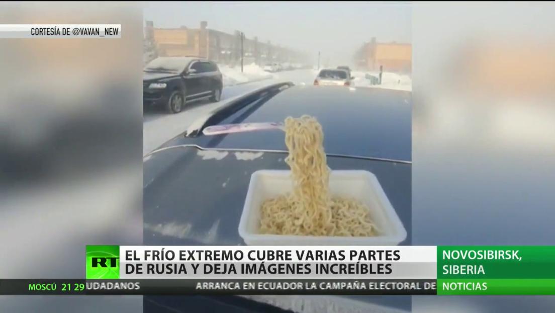 El frío extremo cubre varias partes de Rusia y deja imágenes increíbles