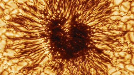 Captan la imagen más detallada de una mancha solar en la historia