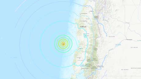 Se registra un terremoto de magnitud 6,7 en Chile