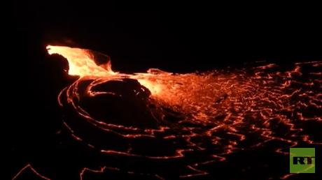 VIDEO: Así luce el interior del volcán Kilauea al entrar en erupción