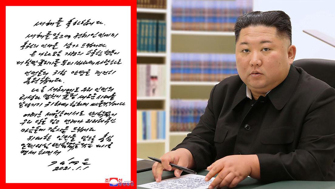 El líder de Corea del Norte felicita a su pueblo por el Año Nuevo a través de una carta por primera vez desde 1995