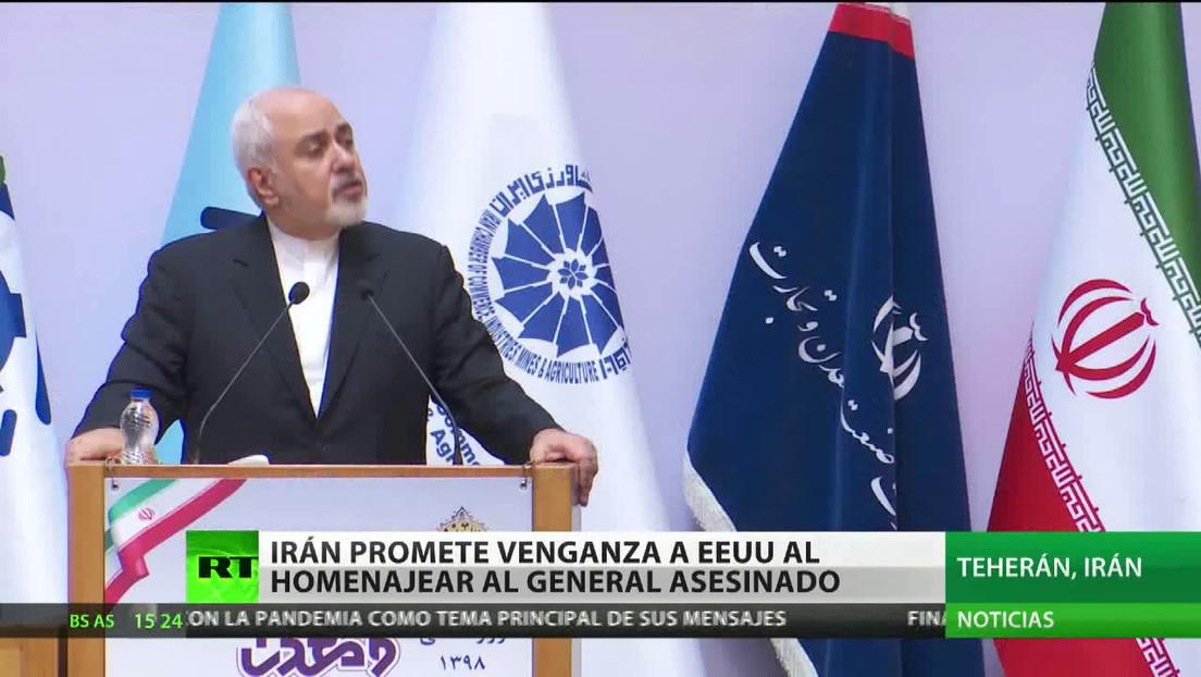Irán promete venganza a EE.UU. al homenajear al general asesinado Qassem Soleimani
