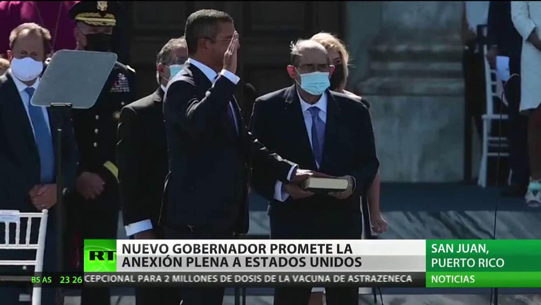 El nuevo gobernador de Puerto Rico promete la anexión plena a EE.UU.