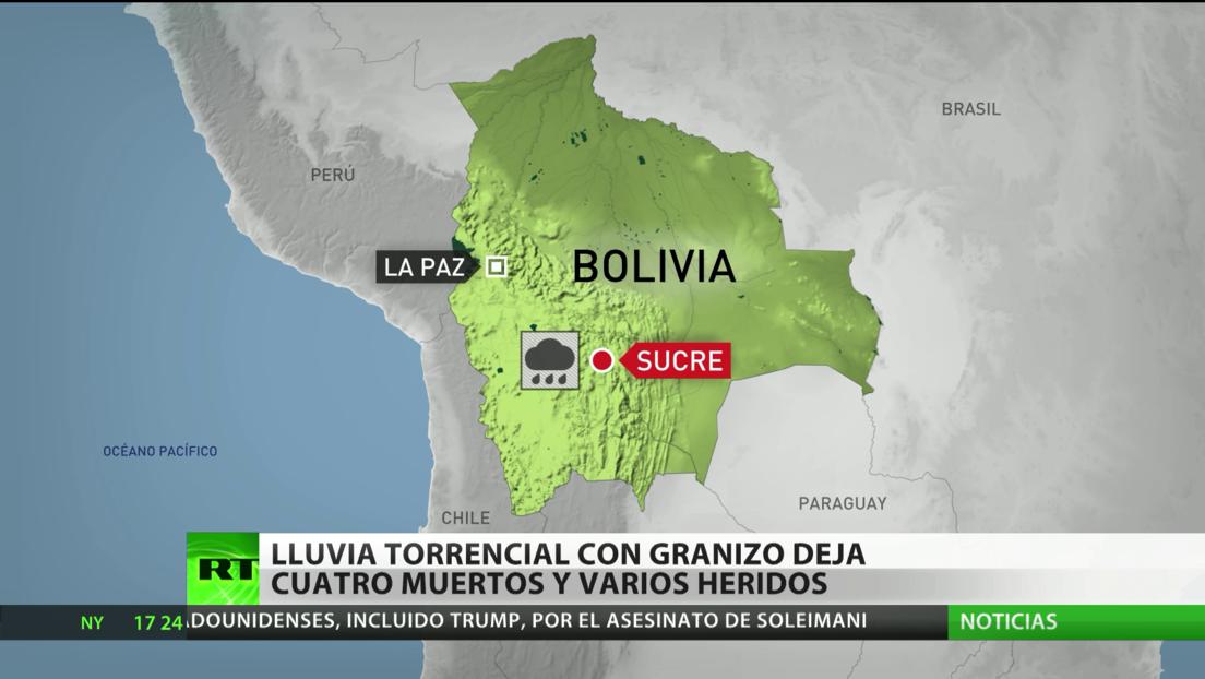 Lluvia torrencial con granizo deja cuatro muertos y varios heridos en Bolivia