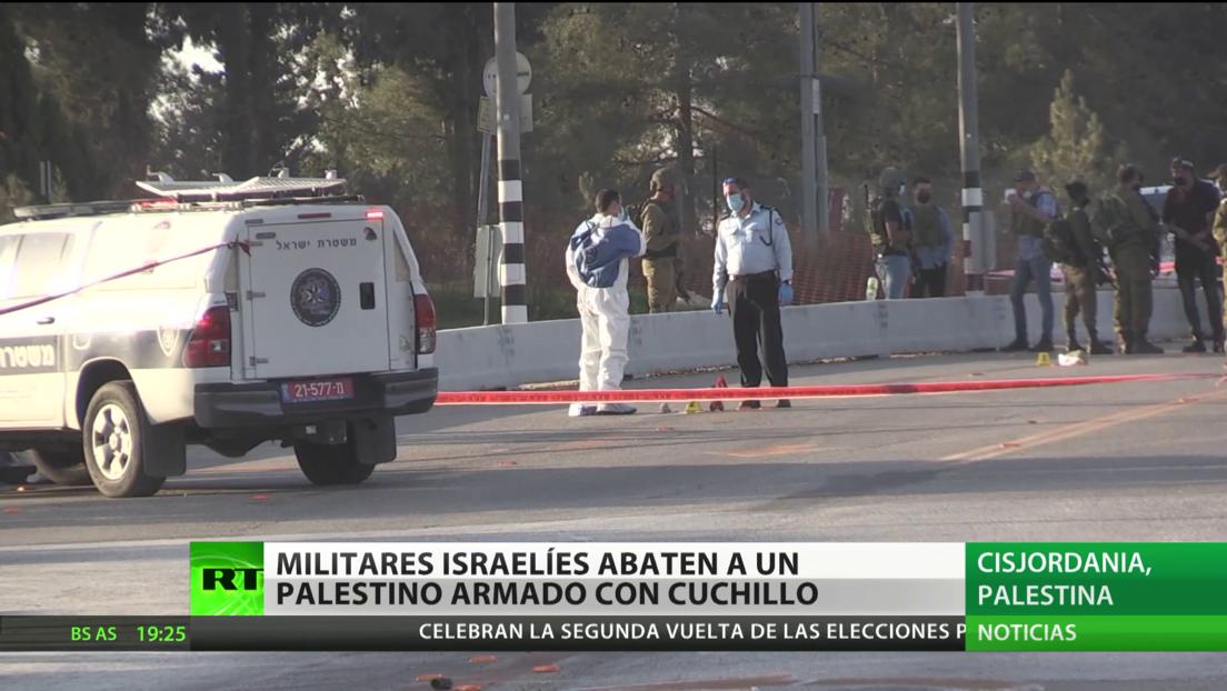 Militares israelíes dan muerte a un palestino armado con cuchillo