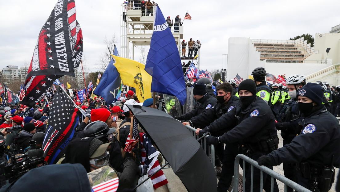 Partidarios de Trump irrumpen en el Capitolio de EE.UU. y logran detener la sesión sobre la victoria de Biden (VIDEOS)