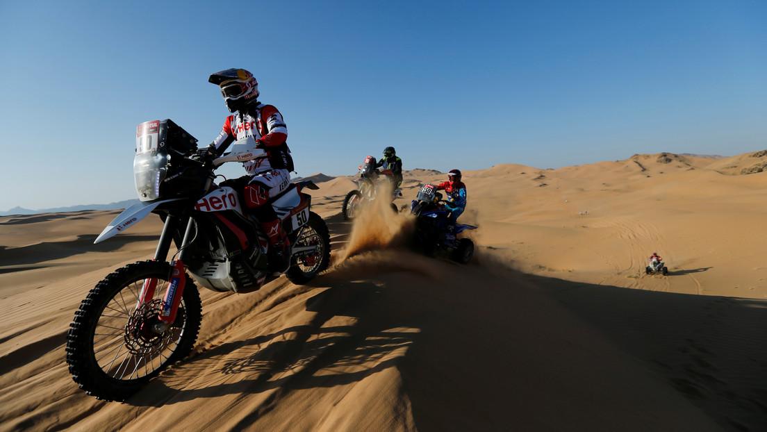 El piloto indio Santosh, en coma inducido tras sufrir un accidente en el Rally Dakar