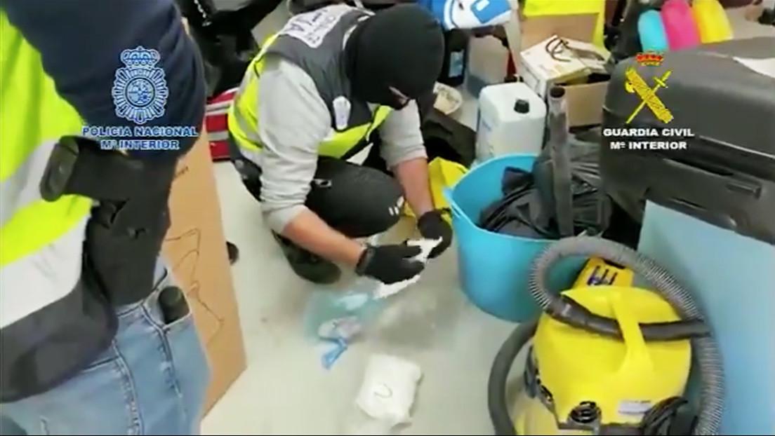 Once personas detenidas en el mayor golpe al tráfico de drogas sintéticas en España