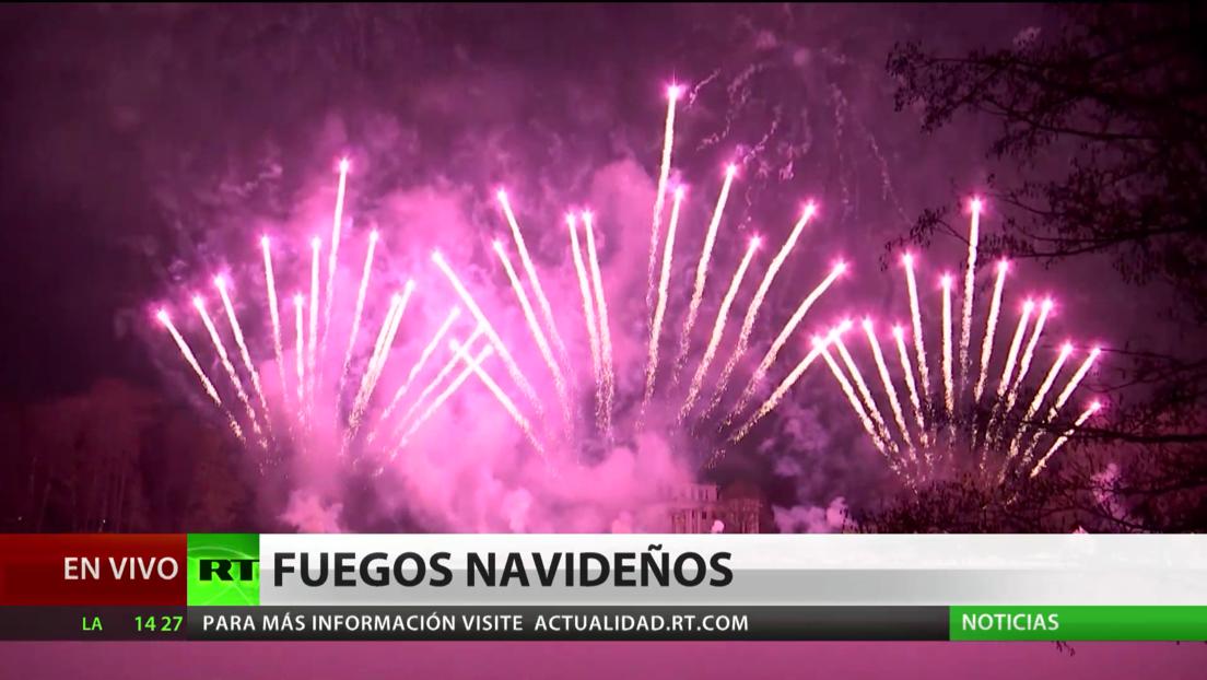 """San Petersburgo celebra con luces y fuegos artificiales el festival """"Estrella Navideña"""", este año en formato online"""