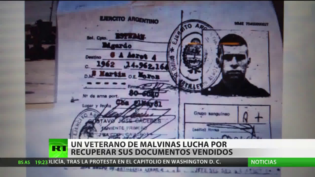 Un veterano de Malvinas lucha por recuperar sus documentos vendidos