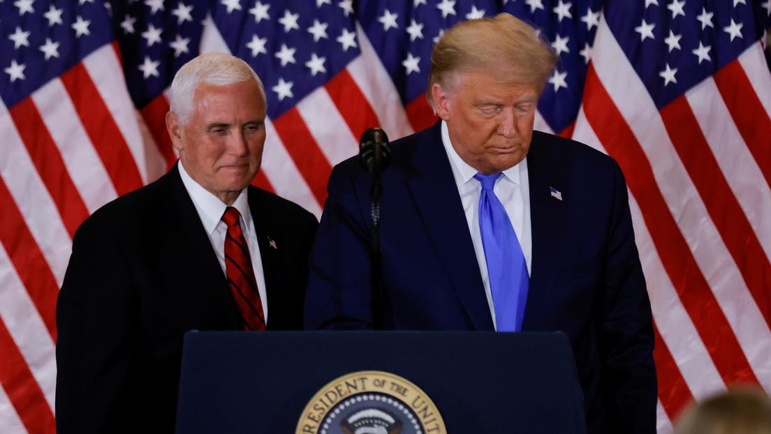 Reportan que Pence no descarta invocar la 25ª enmienda para destituir a Trump