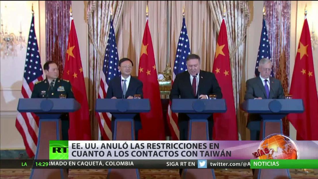 EE.UU. anuló las restricciones en cuanto a los contactos con Taiwán
