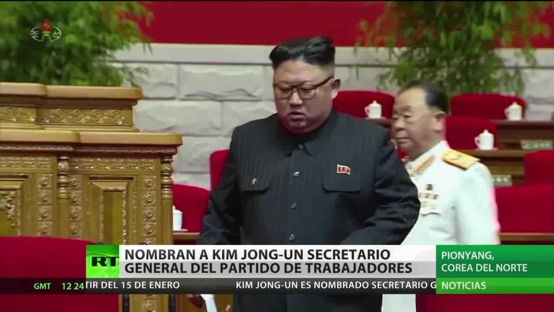 Corea del Norte confirma a Kim Jong-un como secretario general del Partido de los Trabajadores