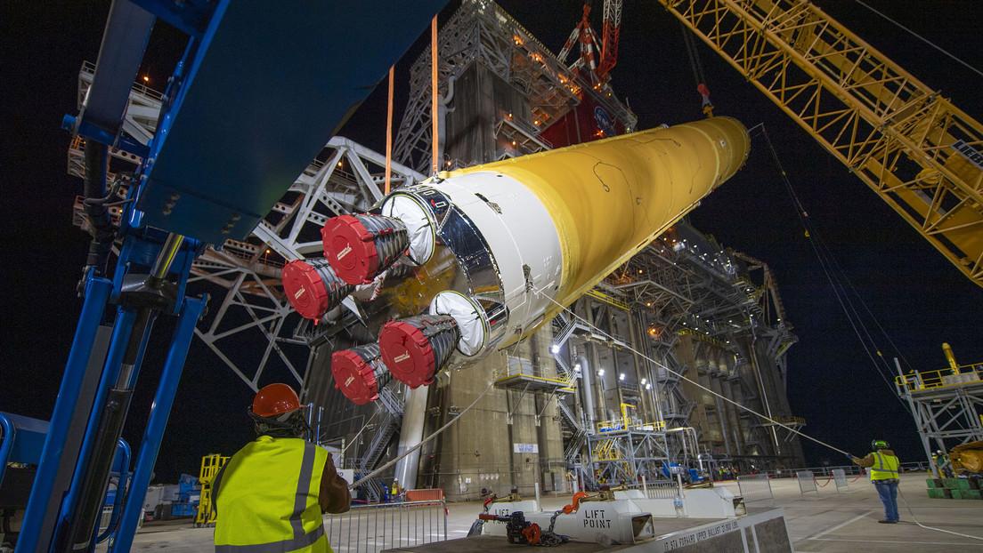 Sitio de pruebas en el Centro Espacial Stennis de la NASA cerca de Bay St. Louis, Misisipi, EE.UU.