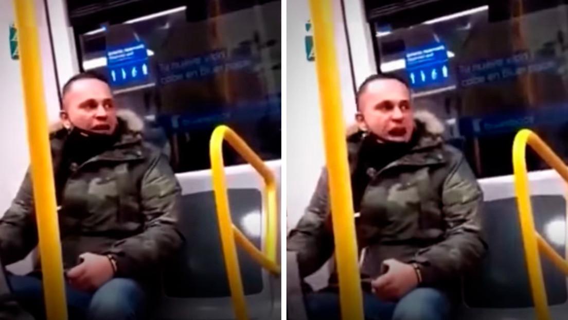 El agresor racista del metro de Madrid se entrega a la Policía y la víctima, una ecuatoriana de 77 años, denuncia los hechos