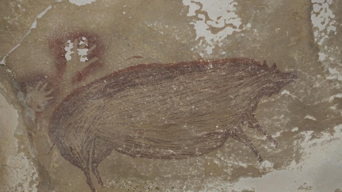 FOTO: Encuentran el arte rupestre más antiguo del mundo, calculado en 45.500 años de antigüedad, en una cueva de Indonesia