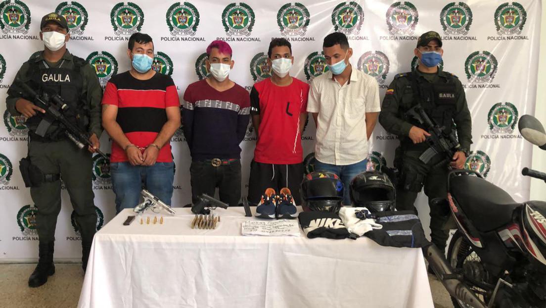 Capturan en Colombia a cuatro presuntos responsables del atentado con granada en Barranquilla que dejó 14 heridos