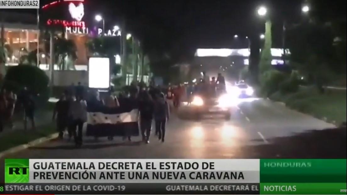Guatemala decreta el estado de emergencia ante una nueva caravana de migrantes desde Honduras