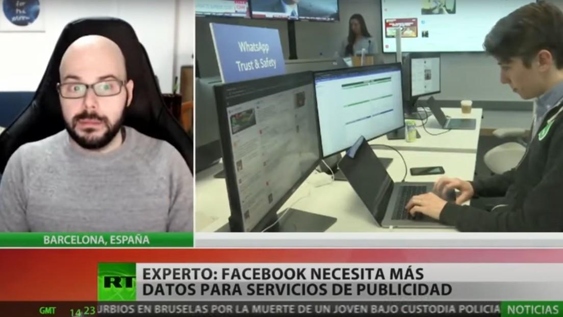"""esperto: """"Facebook ha bisogno di molti dati dai suoi utenti perché il suo lavoro e attività principale è la pubblicità"""""""