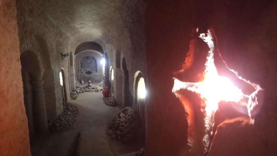 VIDEO: Excavó durante 23 años una cueva de siete pisos de profundidad con solo cincel y martillo