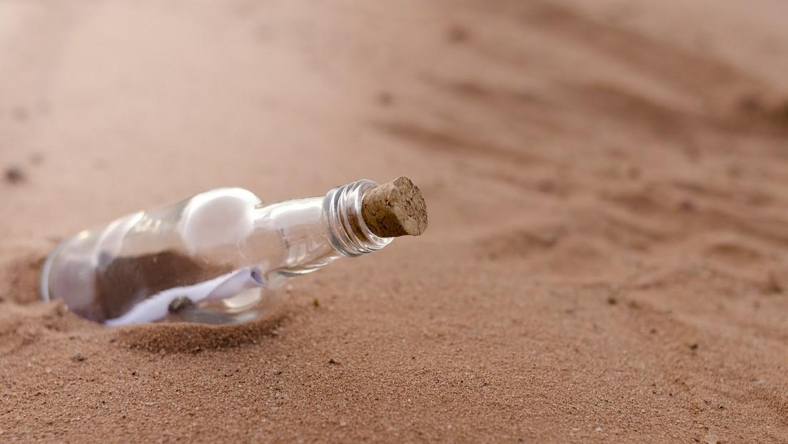 Encuentran en Papúa Nueva Guinea una botella con un mensaje, arrojada al océano hace dos años