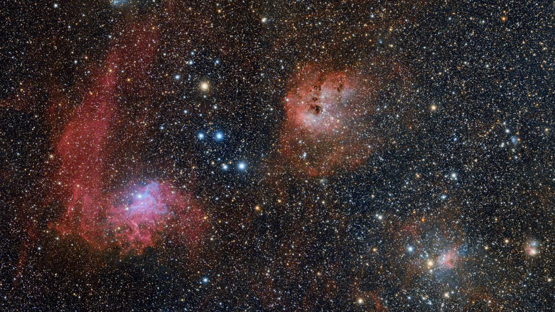 Un astrónomo aficionado toma una deslumbrante fotografía de una nebulosa desde el patio de su casa