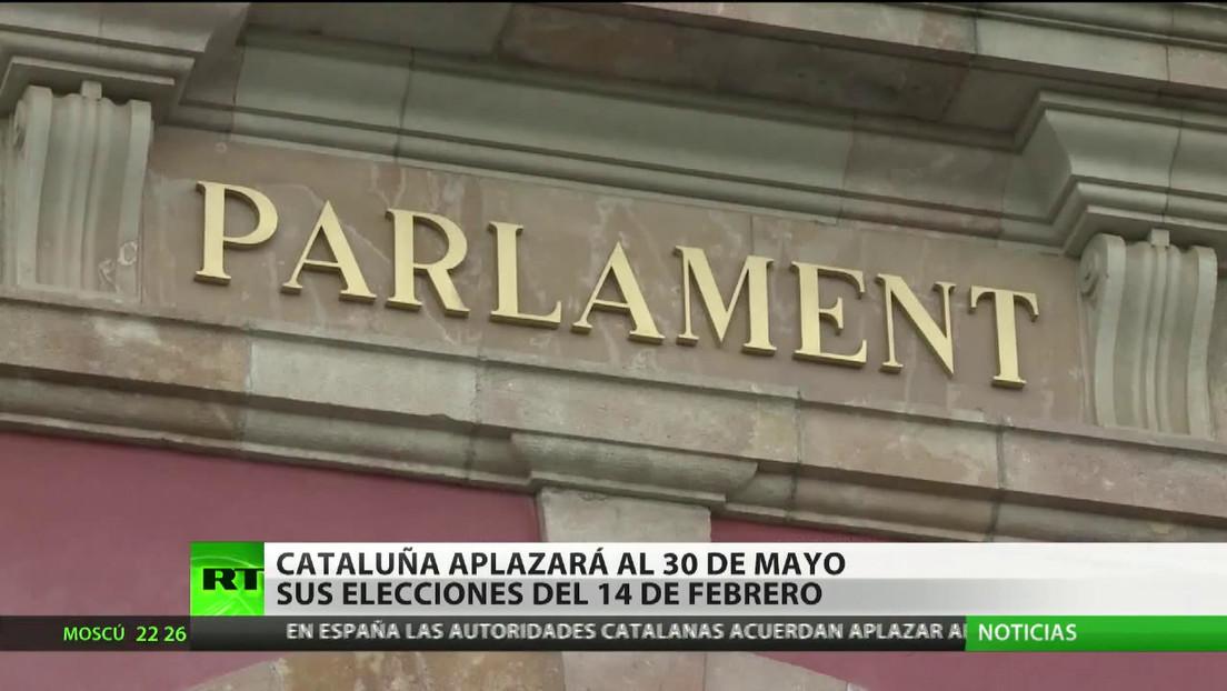 Cataluña aplazará al 30 de mayo sus elecciones previstas inicialmente para febrero