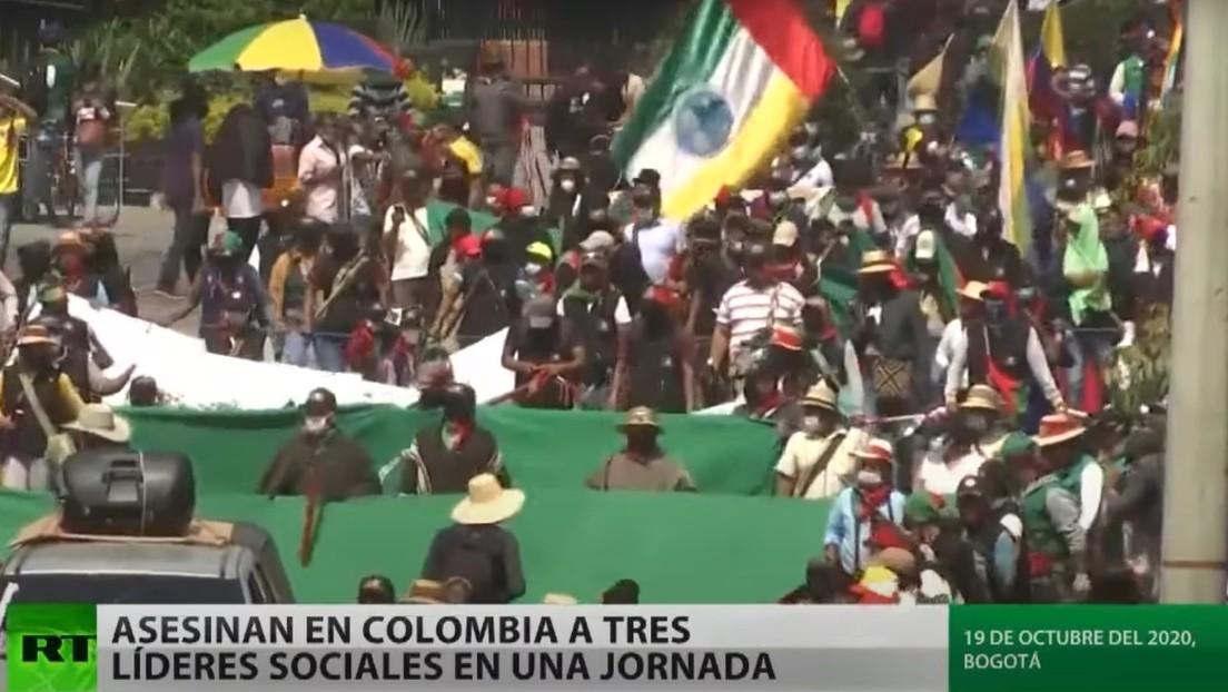 Asesinan en Colombia a tres líderes sociales en una jornada