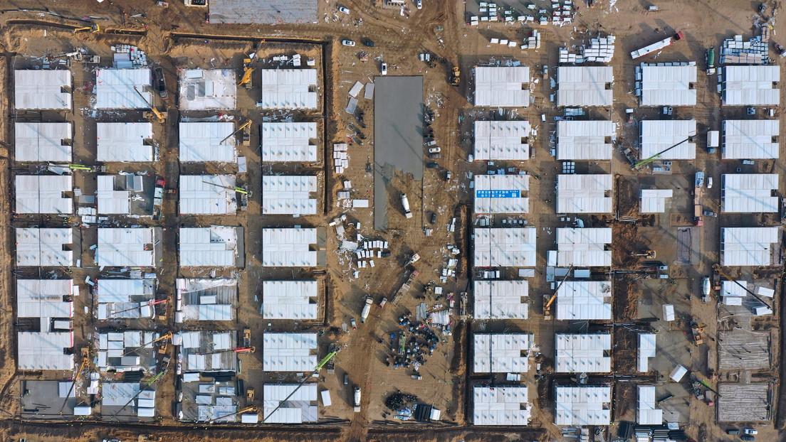 China construye en 5 días un hospital para enfermos con covid-19 en el contexto del aumento de casos en el país