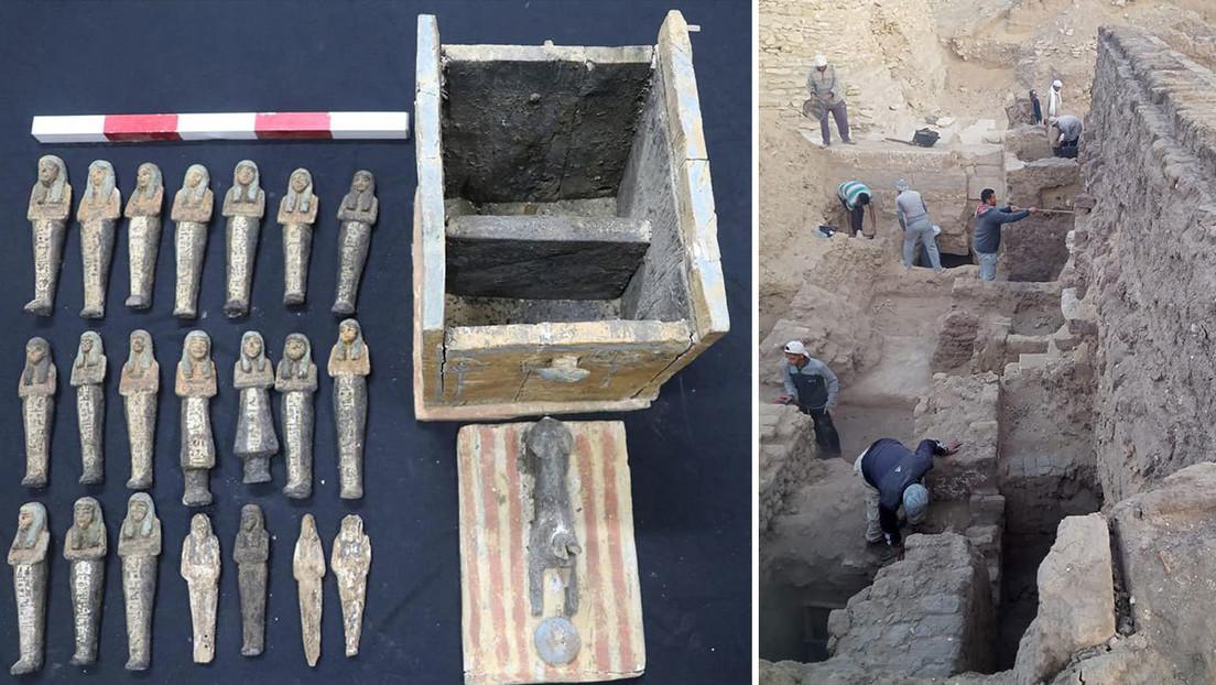 """FOTOS: Egipto anuncia """"grandes descubrimientos"""" en la necrópolis de Saqqara que """"reescribirán la historia de esta región"""""""