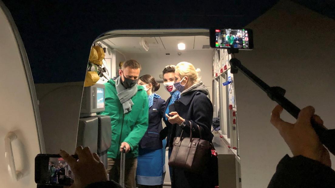 Alexéi Navalny regresa a Rusia