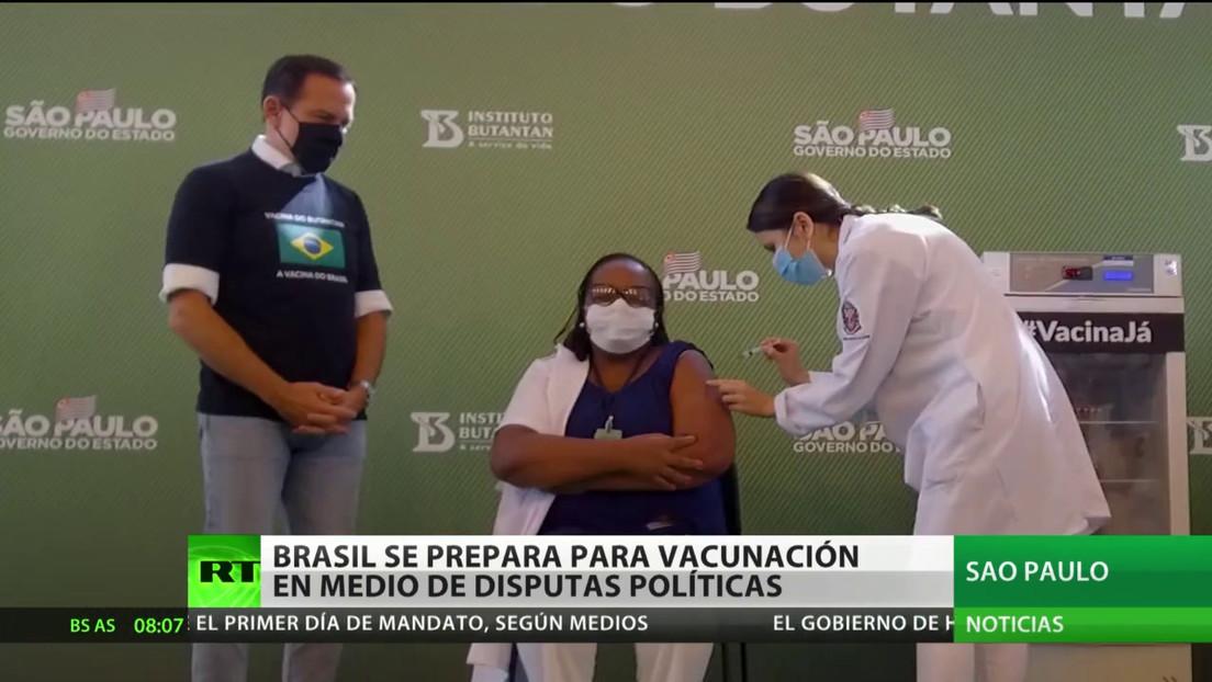 Brasil se prepara para la campaña de vacunación en medio de controversias políticas
